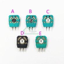 50 stuks Groen Zwart 3D Analoge Micro Switch Knop vervanging voor Playstation 4 PS4 Controller 3D Thumbstick As Weerstanden