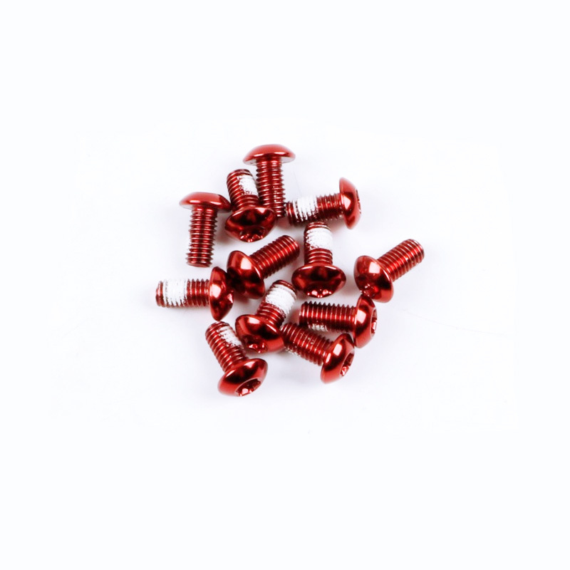 10 piece Aluminium Screws 7075er M5x35 with T25 Torx aluschrauben Red