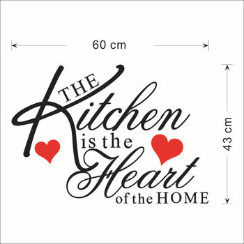 Kitchen Wall Stickers Vinyl Wall Decals for Kitchen English Quote Home Decor Art Decorative Stickers PVC Dining Room For Bar PVC 35