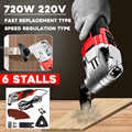 20W 220V 6 Variable Speed Swing Tool Set Cutting Machine Oscillating Multi-Tool Electric Saw Renovator Tool Wood Trimmer