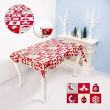 Tablecloth Christmas-Printed Disposable PVC Holiday-Decorations Creative 1PC