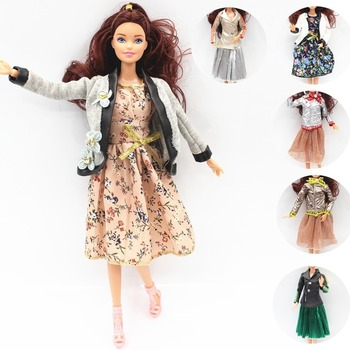 1/6 BJD Fashion Dolls Clothes Multicolor Outfit Jacket Print Dress Daily Casual Wear Accessories Clothes for Bar Doll Girl Gift майка print bar формула 1