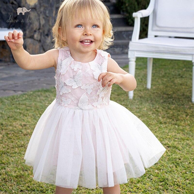 DB12989 dave bella, vestido de malla bordado bonito de verano para niñas, vestido de fiesta a la moda para niños, ropa infantil de lolita Vestido de tutú para niñas y niños, Vestido de princesa para niñas, Vestido de fiesta de cumpleaños, ropa informal de verano para niñas, ropa 8T