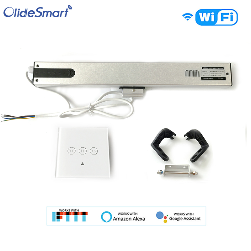 Olide Intelligent Smart AC Motor Automatic Window Opener With Wired WIFI Push Panel ,Phone App Control Remotely