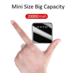 Image 1 - Power Bank 20000 mAh 2.1A szybkie ładowanie PowerBank 20000 mAh USB PowerBank zewnętrzna ładowarka do Xiaomi Mi 9 8 iPhone 11 X