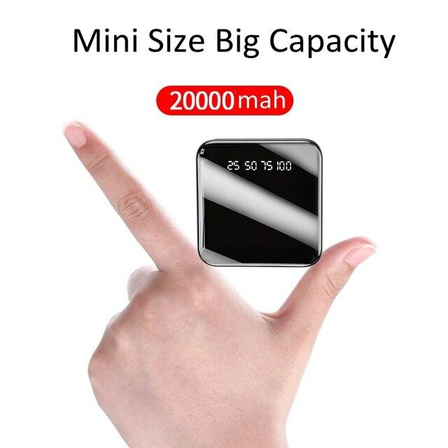 Power Bank 20000 mAh 2.1A szybkie ładowanie PowerBank 20000 mAh USB PowerBank zewnętrzna ładowarka do Xiaomi Mi 9 8 iPhone 11 X
