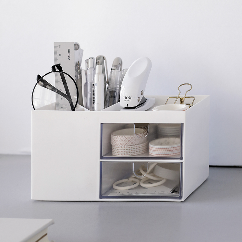 2020 Creative Multifunctional Desktop Organizer Holder Case Makeup Storage Box School Office Stationery
