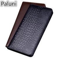 Luxury Business Genuine Leather Magnet Flip Coque Case For Samsung Galaxy J8 2018/Galaxy J6 2018/Galaxy J4 2018 Flip Phone Cover