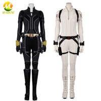 Disfraz de superheroína para mujer adulta, ropa para juego de rol BLK, disfraz de viuda, Battlesuit