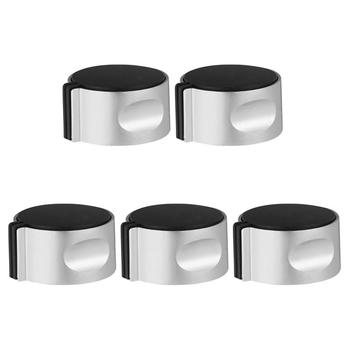 5PCS Gas Stove On-Off Knob Cooker Metal Button Ignition Switch Button Gas Stove Accessory for Home Kitchen Replacement brushed metal gas stove knobs cooker control switch range oven knobs cooktop burner knob gas hob switch kitchen replacement