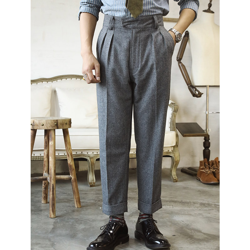 CK-0009 Casual Style Pants Mens  Vintage OG107 400 Gsm 75% Wool Gurkha Pants