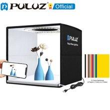 PULUZ 30cm 25cm צלמניה טבעת LED אור תיבת & 6 / 12 צבע רקע שולחן Lightbox צילום רך ירי אוהל תיבה