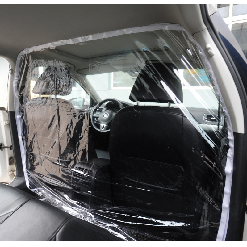 Car Taxi Isolation Film Plastic Anti-Fog Dust Anti-droplet Full Surround Protective Cover Front And Rear White For Car Cockpit