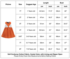 Image 2 - Sweet Baby Girls Fox Dress Corduroy Dress Orange Color Cartoon Sweet Kids Dress