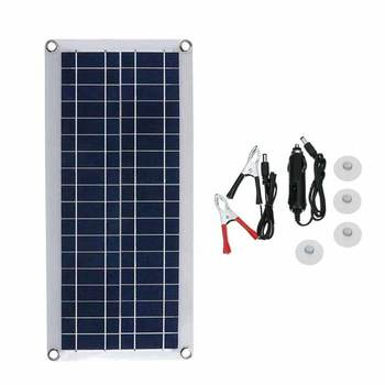 50W 12V dual USB flexible solar charging board Controller Protection Board charger Time switch