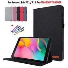 Para lenovo p11 caso cowboy flip capa funda para lenovo tab p11 TB-J606F caso tablet para lenovo tab p11 pro TB-J706F capa coque