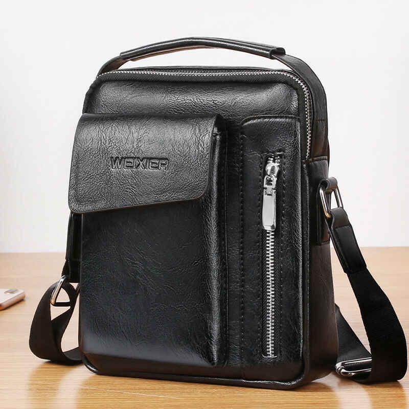 الرجال Softy حقائب كروسبودي حقيبة يد كاجوال صغيرة بولي Leather جلد الذكور الكتف الرجعية رسول تخزين سستة قابل للتعديل حزمة