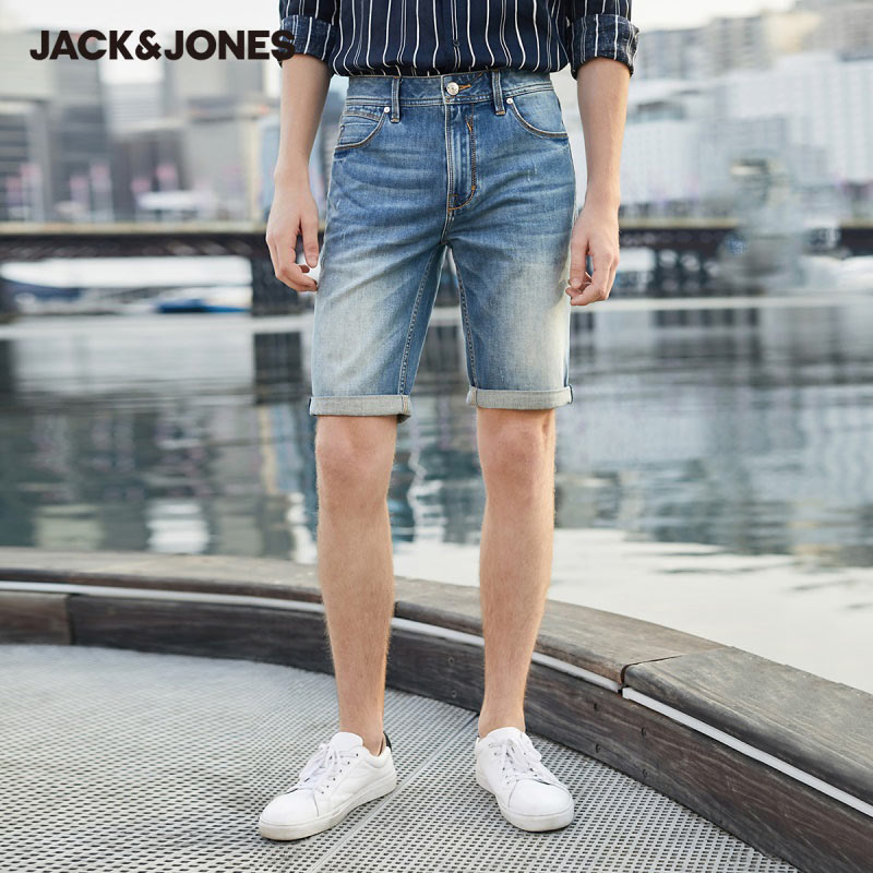 JackJones New Arrival Men's Slim Fit Stretch Denim Shorts Menswear| 220143501