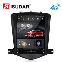 Isudar H53 Vertical 1 Din Android Auto Radio For Chevrolet Cruze 2006 2014 GPS Car Multimedia RAM 4G ROM 64G For TESLA Model DSP