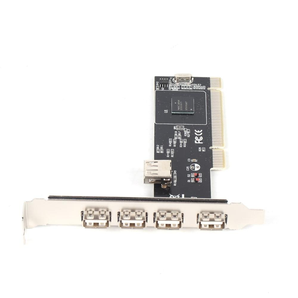 ! 5 PORTS USB 2.0 USB2 PCI CARD Controller Adaptor (VIA) Brand New