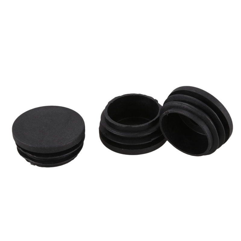 ABFU-10 Pcs Plastic Blanking End Caps 38mm Round Tube Insert Plug Black
