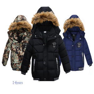 NEW High Quality Winter Child Boy Down Jacket Parka Big Girl Thicking Warm Coat 2 3 4 5 6 Year Light Hooded Outerwears