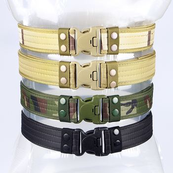 Army Style Combat Belts Quick Release Tactical Thickened Widen Belt Fashion Men Canvas Waistband Outdoor Hunting Accessories 2