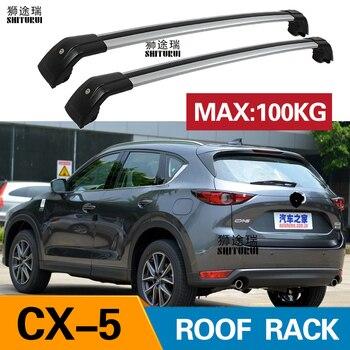 SHITURUI 2Pcs Roof Bars for MAZDA - CX-5 CX5 SUV 2017-2019 KE, GH Aluminum Alloy Side Bars Cross Rails Roof Rack Luggage Carrier
