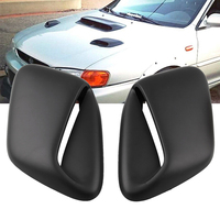 2PCS Vent Cover Bonnet Durable Replacement Decorative Air Flow Intake Styling Car Accessories Hood Scoop For Subaru 99 01