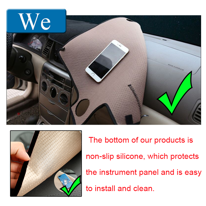 lowest price Auto Car Dashboard Cover Dash Mat Dash Board Pad Carpet Dashmat Anti-UV Mats For Toyota Avensis 2005 2006 LHD Car Styling
