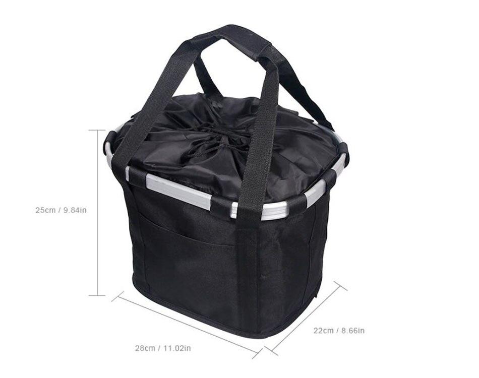 Велосипедная корзина, корзина для руля велосипеда, велосипедный держатель, сумка для езды на велосипеде, велосипедная Передняя багажная сумка, нагрузка 3,0 КГ