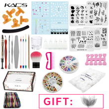цена на KADS Nail Sets For Manicure Nail Art Stamping Plates Acrylic Nail Brush Manicure Pedicure Tools Set Nail Art DIY Beauty Tool Kit