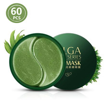 Maschera al collagene oro/alghe Gel idratante naturale patch per gli occhi rimuovi i cerchi scuri borsa Anti età rughe per gli occhi cura della pelle 60 pz