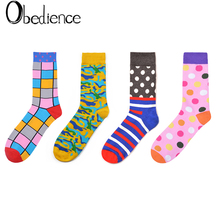 Autumn And Winter Colorful Cartoon Socks For Men Women Cute Print Hosiery Fashion new Korean Adult Harajuku Geometric Pat