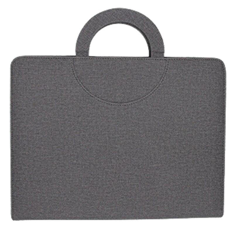 HOT-Multifunctional Zipper Business Messenger Bag A4 File Folder Organizer with Ipad Stand USB Rigid Disk Fastener