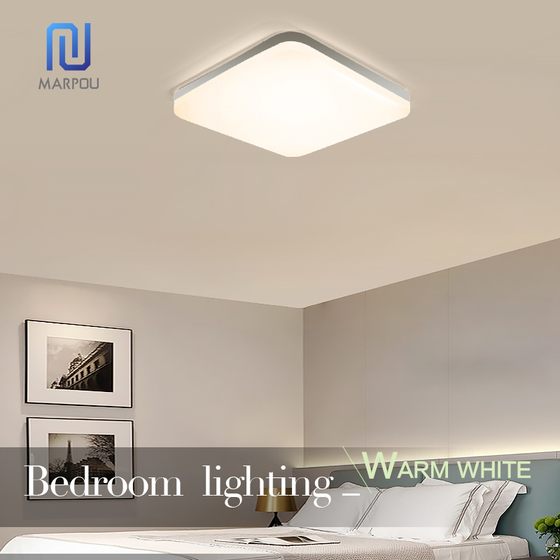 LED Light Home Modern Panel Light Ceiling Lamp Natural Light Warm White Cold White Round Square Living Room Bedroom Kitchen 5