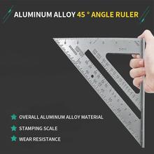 7 polegada carpenter ferramentas de alumínio conjunto praça régua triangular medição régua para woodworking ângulo triângulo