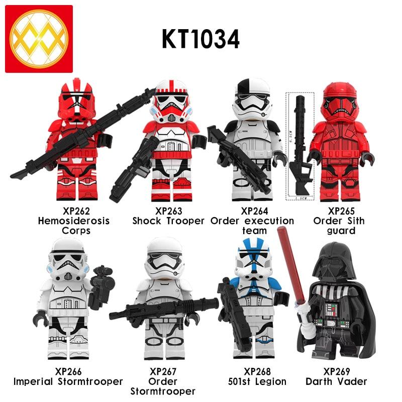 lEGOED KT1034 Soldier Assailant Mandalorian Imperial Star MINIFIGURED Wars Mechanic Robot Building Blocks Children Toys