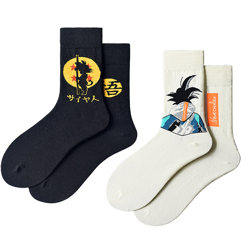 Dragon Ball Cartoon Socks Fashion Japanese Harajuku Street Hip Hop Socks Unisex Skateboard Socks