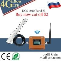 75dB Verstärkung GSM LTE 1800 4G Cellular Verstärker 2g 4g Mobile Signal Booster DCS 1800MHz Mobile GSM Signal Booster