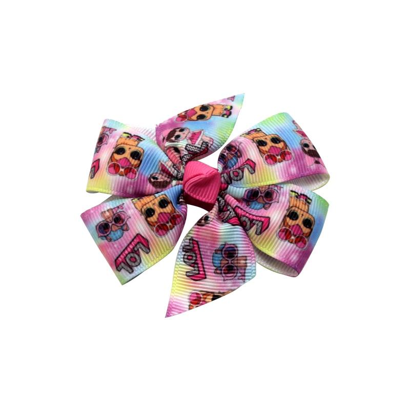 2020 Student Hair Clip Pretty Cartoon Pattern Girl Hair Clip Boutique Bow Hair Clip Headdress Children Handmade Hair Accessories