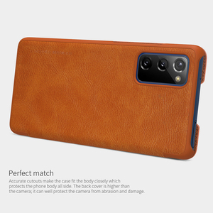 Image 5 - For Samsung Galaxy S20 FE case Nillkin Qin PU Luxury Flip leather back cover wallet case For Samsung S20 Fan Edition 5G