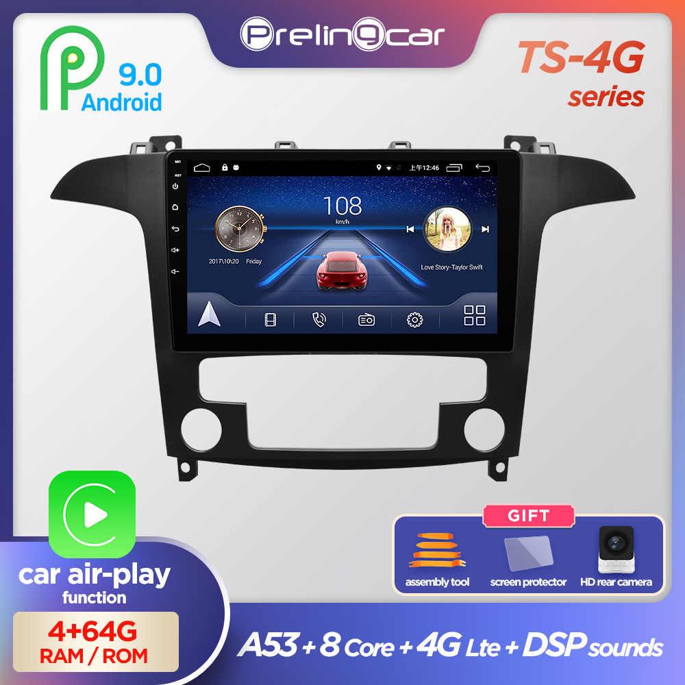 Prelingcar Android 10.0 Không DVD 2 Din Xe Ô Tô Đài Phát Thanh Đa Phương Tiện Video Dẫn Đường GPS Cho Xe Ford S-MAX S MAX 1 2007-2008 Octa-core