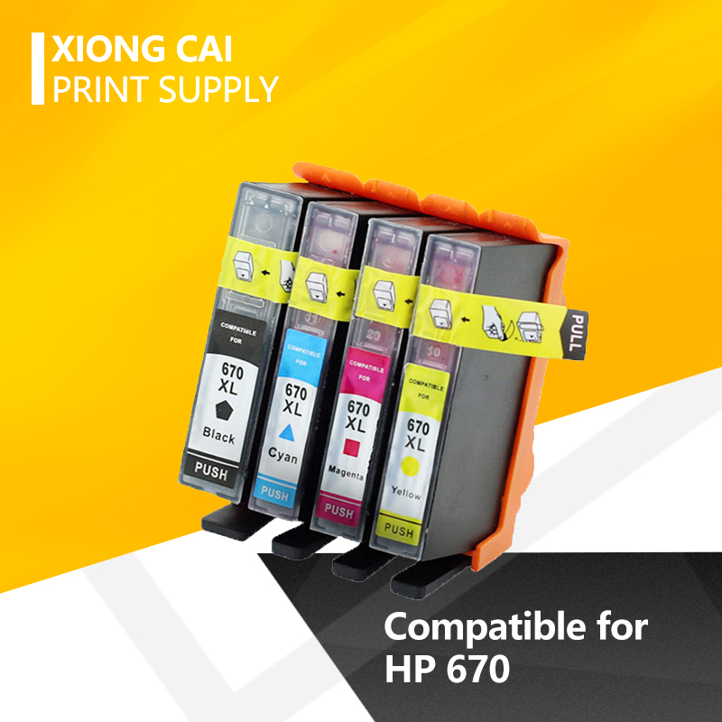 Compatible ink cartridges for <font><b>hp</b></font> 670 Deskjet 3525 4615 4625 5525 <font><b>6520</b></font> 6525 printers cartridge for hp670 XL 670XL image