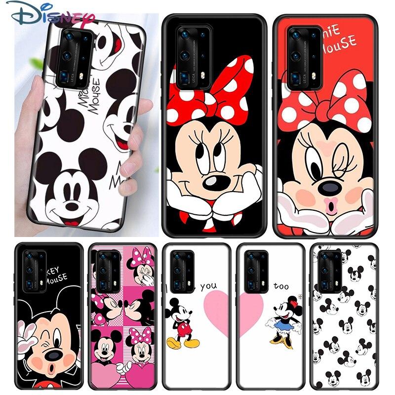 С Микки-Маусом и Минни BFF силиконовый чехол для Huawei P40 P30 P20 Pro P10 P9 P8 Lite E Plus 2019 2017 5G чехол для задней панели мобильного телефона