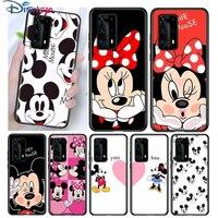 Funda de silicona de Mickey y Minne BFF para Huawei, P40, P30, P20 Pro, P10, P9, P8 Lite E Plus, 2019, 2017, 5G, negra