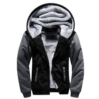 Men Hoodies Autumn Winter Male Splice Pullover Hoodies Mens Sweatshirts Thick Section Hoodie Coat