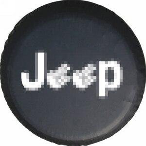 Image 2 - Weiche PVC Leder Ersatz Reifen Abdeckung Wasserdichte Finger Typ RV Rad Fall für Jeep LAND ROVER SUV Reifen Auto außen Zubehör