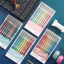 Stylo à Gel multicolore à paillettes 9 pièces/ensemble, surligneur pour écriture et dessin, marqueurs d'art de gribouillage, papeterie scolaire