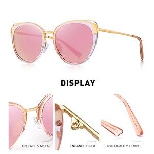 Image 2 - MERRYS تصميم النساء الفاخرة العلامة التجارية القط العين النظارات الشمسية السيدات موضة نظارات شمسية مستقطبة UV400 حماية S6139